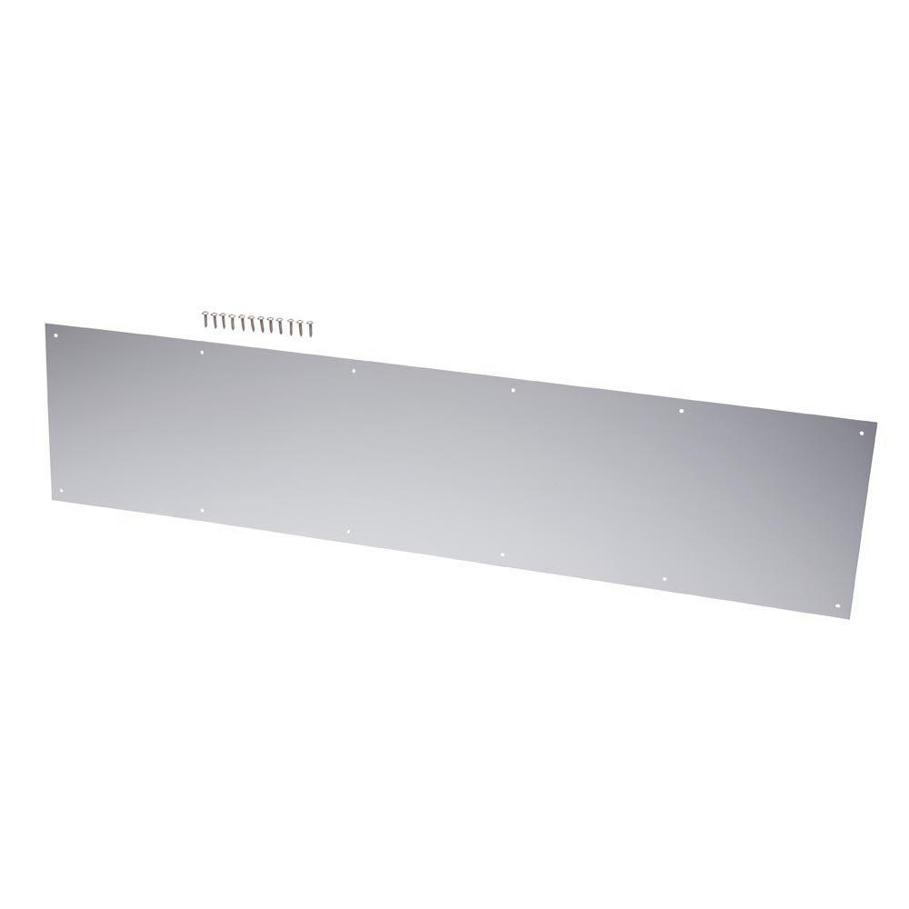 8 in. x 34 in. Satin Aluminum Kick Plate