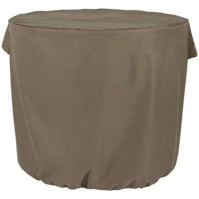 34 in. x 30 in. Heavy-Duty Khaki Round Protective Air Conditioner Cover