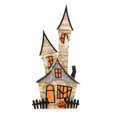 80 in. Burlap Ghost House