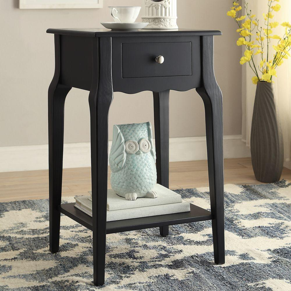 Homesullivan Lisette Midnight Black End Table Photo