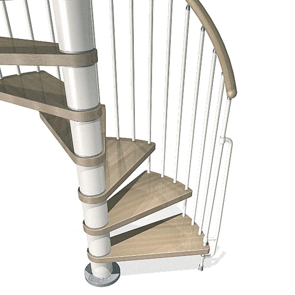 Phoenix 55 in. White Spiral Staircase Kit