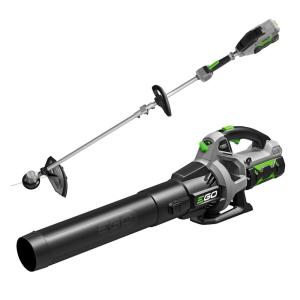EGO 110 MPH 530 CFM 56V Lith-Ion Cordless Blower and 15 in. String Trimmer Rapid Reload Head Batteries and Chargers
