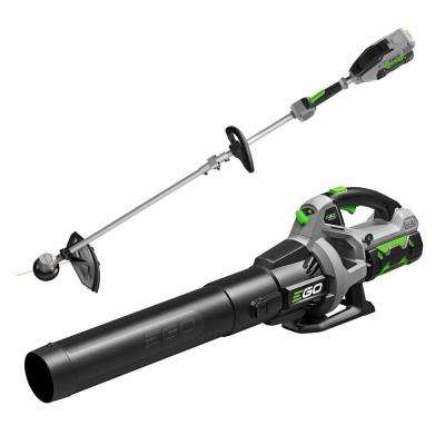 110 MPH 530 CFM 56V Lith-Ion Cordless Blower and 15 in. String Trimmer Rapid Reload Head Batteries and Chargers Included