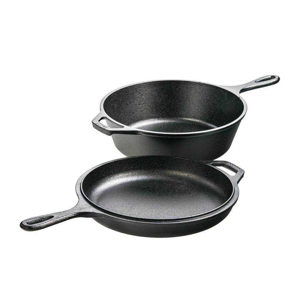 Lodge 3.2 Qt. Cast Iron Combo Cooker