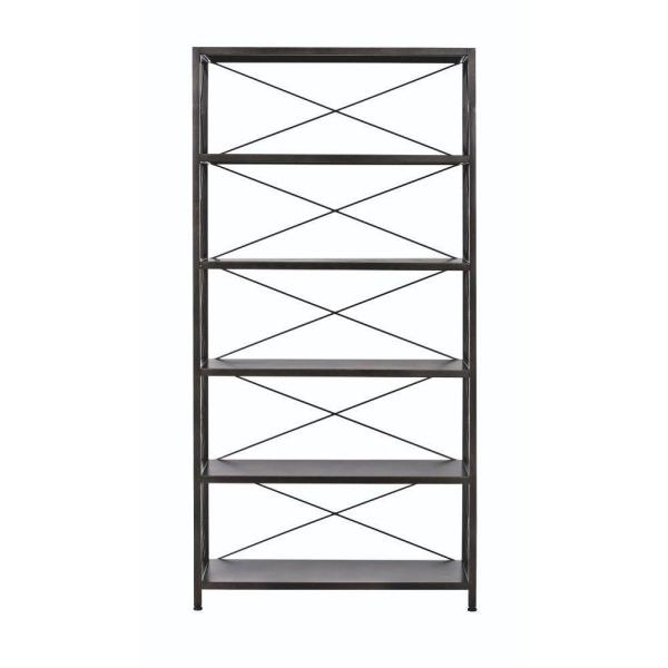 Home Decorators Collection Ryan Burnished Black 5 Shelf Open Bookcase 2838310210