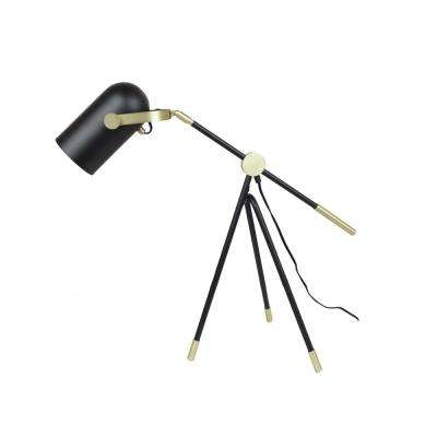 Industrial Theatrical 25 in. Black Table Lamp Tripod