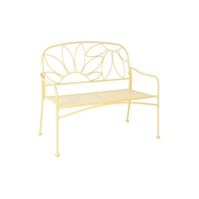 Bright and Fun 2-Person Yellow Metal Outdoor Bench