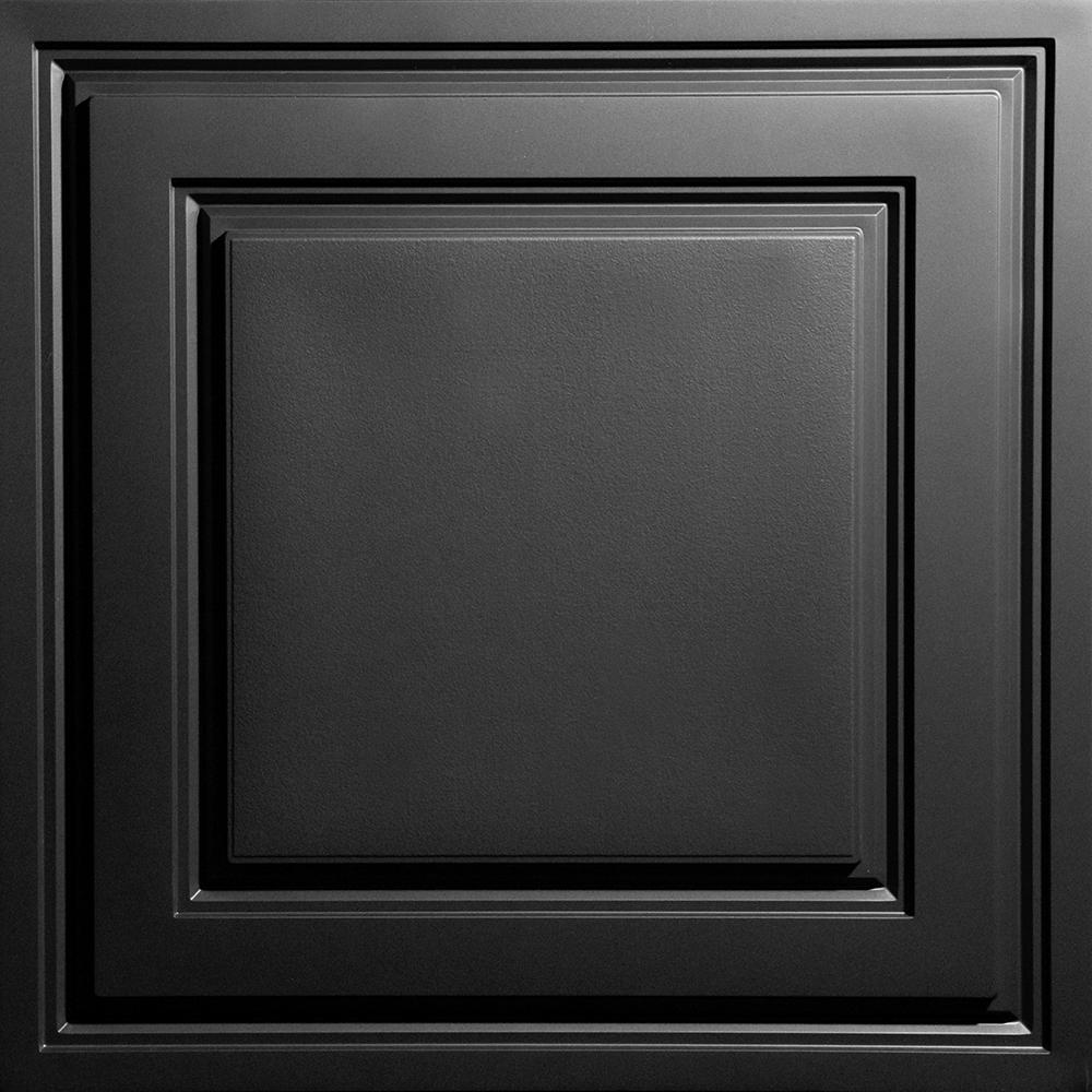 2/' x 2/' 40 Ceiling Tiles Black FREE SHIPPING! Ceilume Stratford