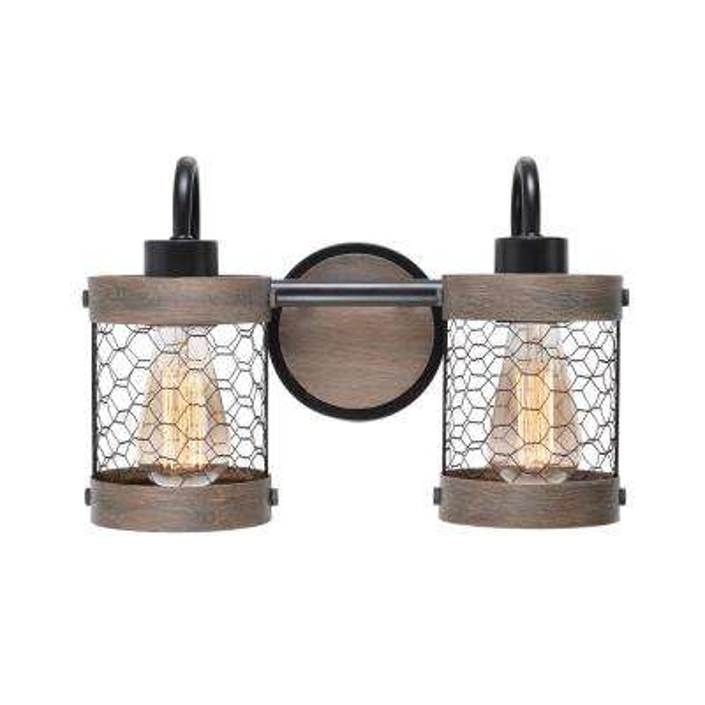Cozy 2-Light Oil Rubbed Bronze Bathroom Vanity Light