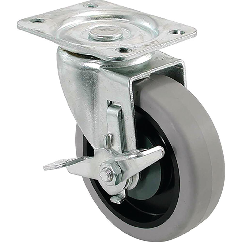 5 in. TPR Swivel Caster with 350 lb. Load Rating and