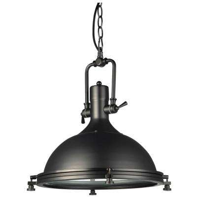 Dorado 1-Light 16 in. Architectural Bronze LED Adjustable Hanging Industrial Pendant