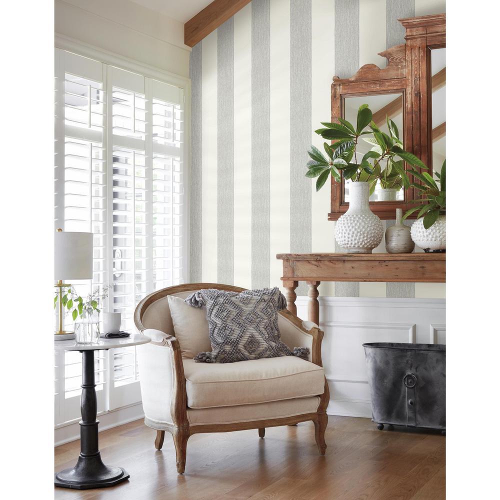 56 sq. ft. Thread Stripe Wallpaper