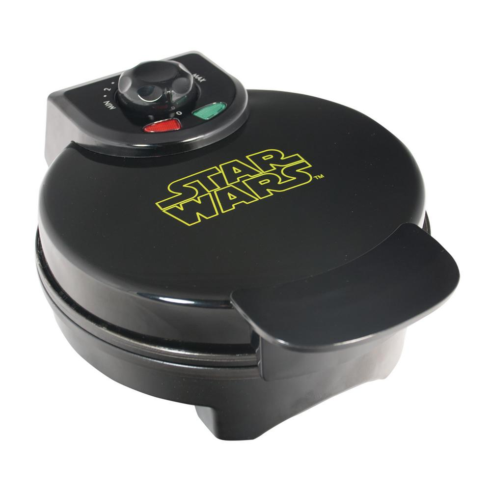 Pangea Brands Star Wars Darth Vader Single Waffle Black Waffle Maker No need for your waffles to join the dark side with the regulating thermostat on this Pangea Star Wars Darth Vader waffle maker. Color: black.