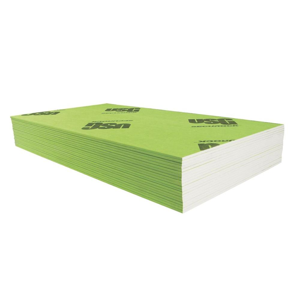 Securock Brand 5 8 In X 4 Ft X 8 Ft Glass Mat Sheathing Firecode X 22170044008 The Home Depot