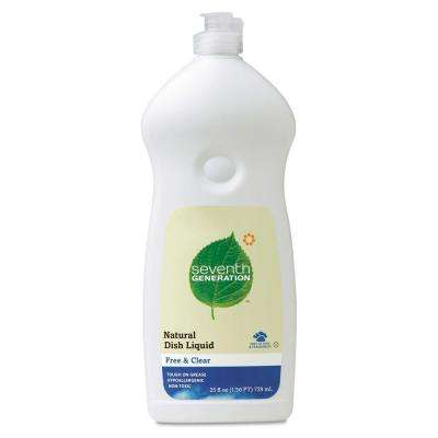 25 oz. Free and Clear Scent Natural Dishwashing Liquid (Case of 12)