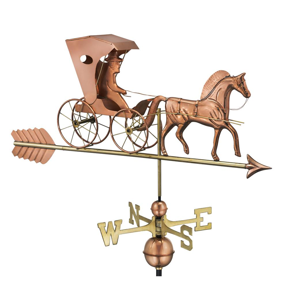 Country Doctor Weathervane with Arrow - Pure Copper