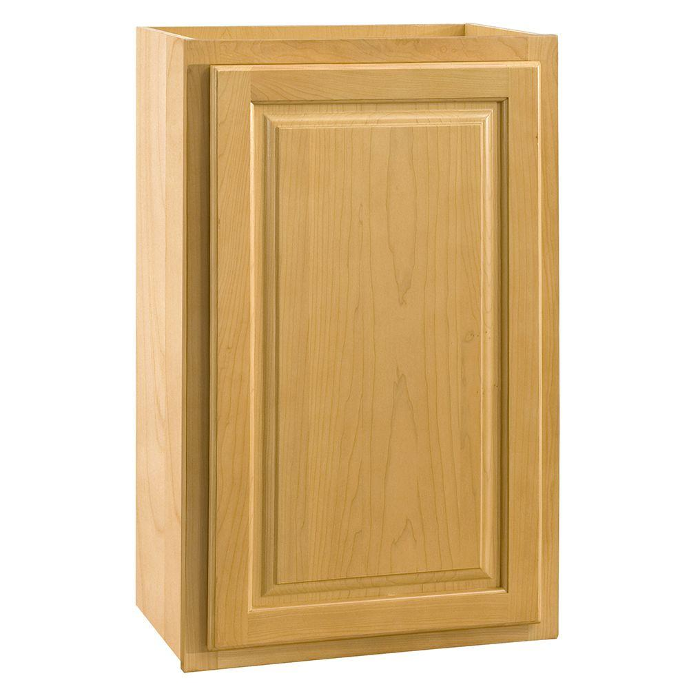 Home Decorators Collection Assembled 15x30x12 in. Wall Single Door Cabinet in Vista Honey Spice