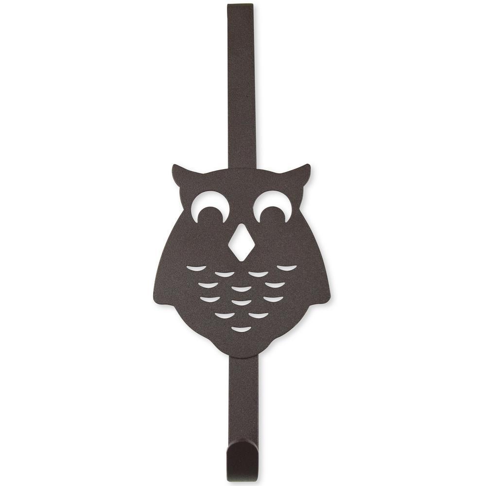 Over the Door Counter Drawer Owl Organizer - Single Hook Bronze