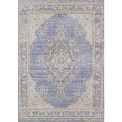 Isabella Periwinkle 9 ft. 3 in. x 11 ft. 10 in. Indoor Area Rug