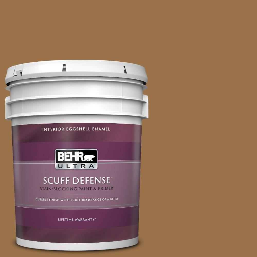 Reviews For Behr Ultra 5 Gal Ppu4 17 Olympic Bronze Extra Durable Eggshell Enamel Interior Paint Primer 275305 The Home Depot