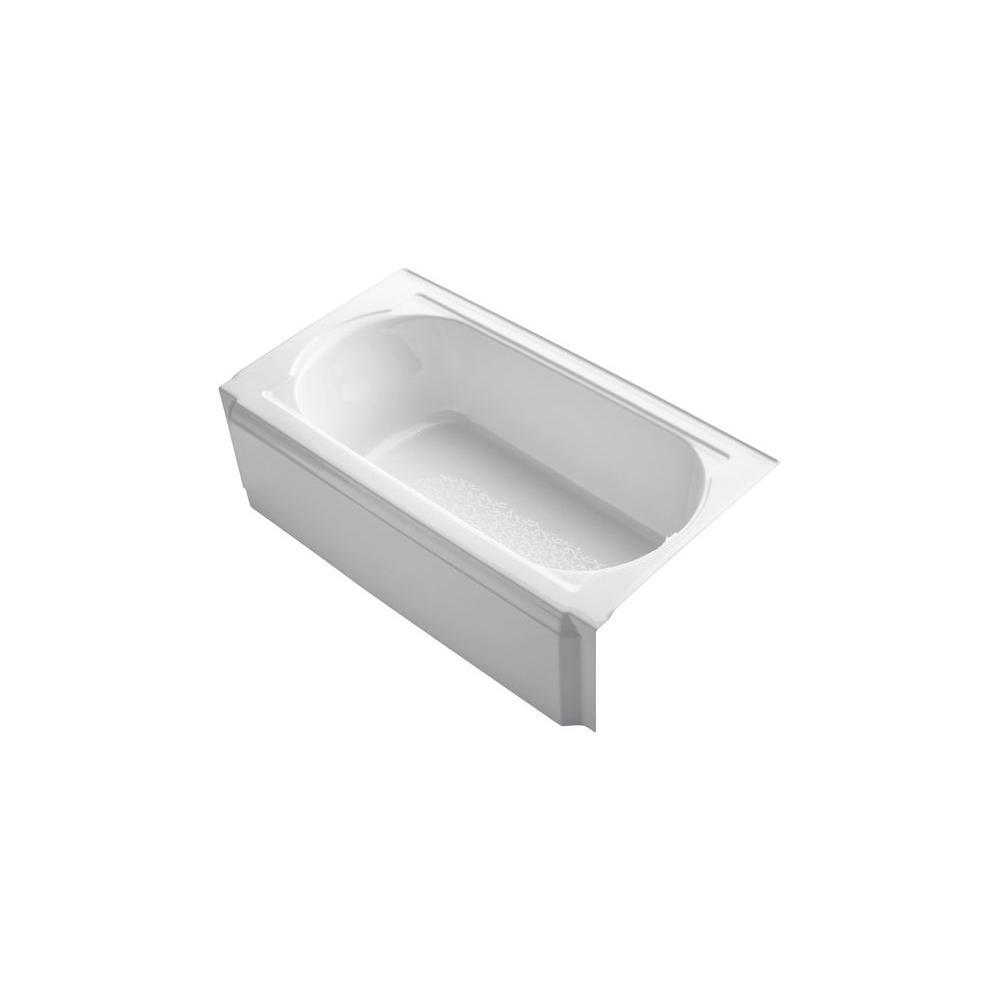 Memoirs 5 ft. Right-Hand Drain Cast Iron Rectangular Alcove Soaking Tub in White