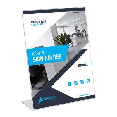 8.5 in. x 11 in. Slant Back Acrlylic Sign Holder (6-Pack)