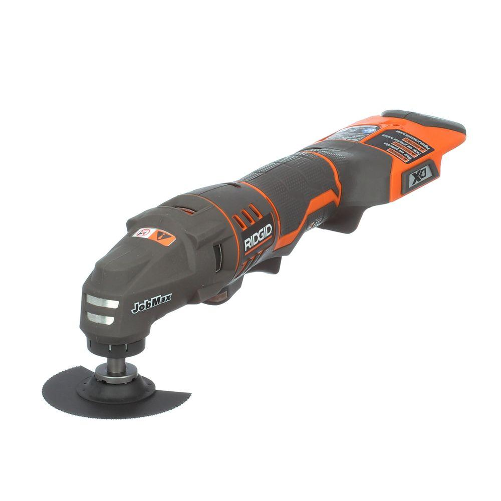 ridgid jobmax 18 volt console multi tool tool only r862004 the home depot. Black Bedroom Furniture Sets. Home Design Ideas