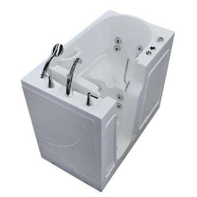 Nova Heated 3.9 ft. Walk-In Whirlpool Bathtub in White with Chrome Trim