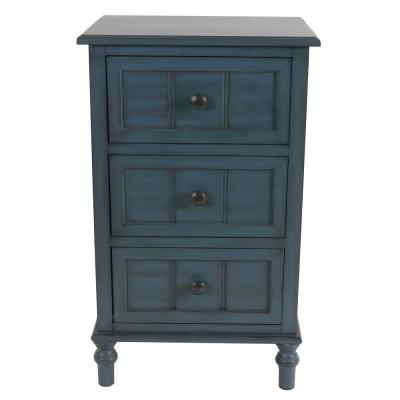 Antique Navy Blue 3-Drawer Chest