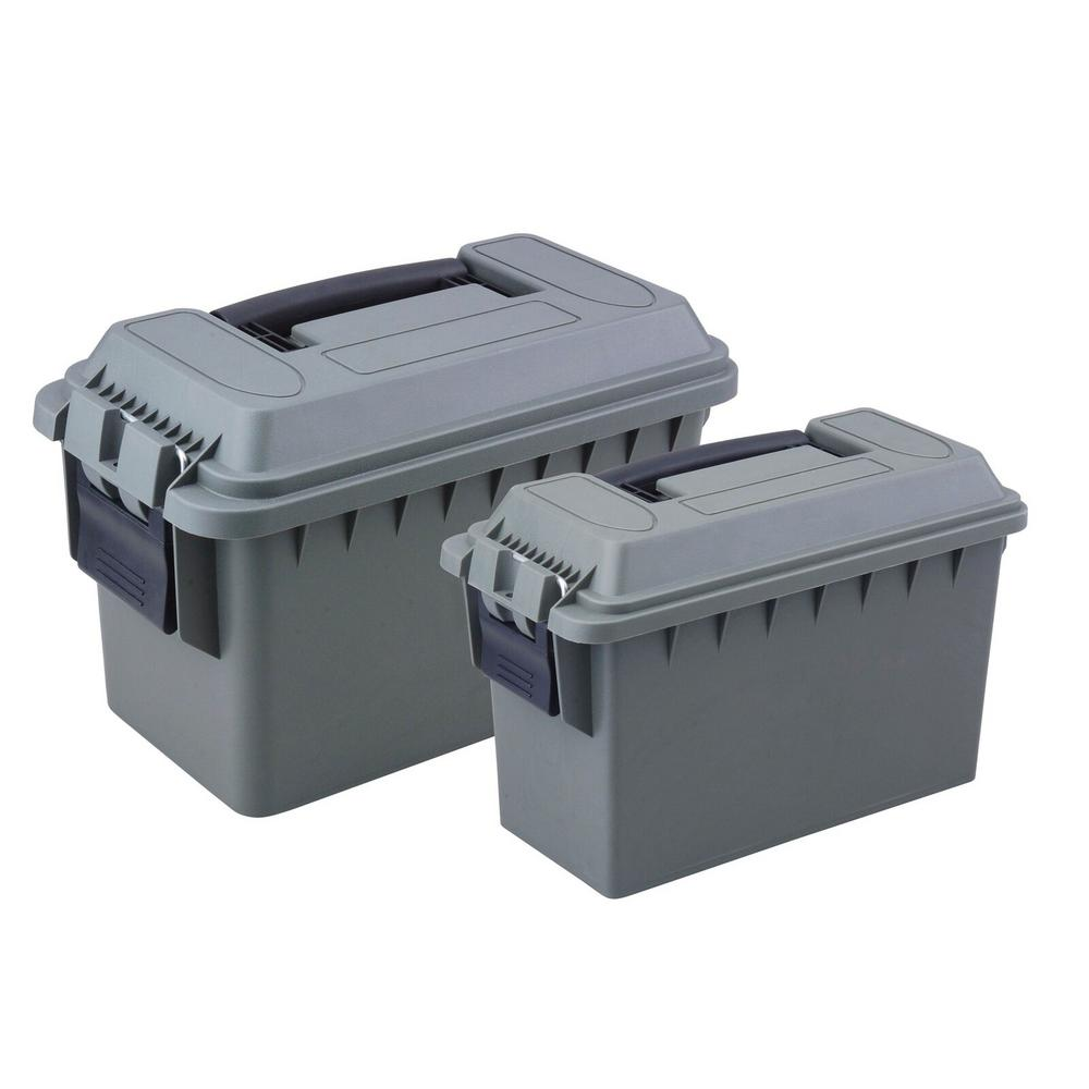 0.30 and 0.50 Cal Tactical Ammo Storage Boxes in O.D. Green