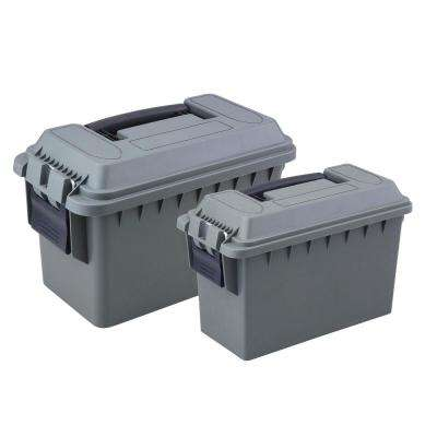 0.30 and 0.50 Cal Tactical Ammo Storage Boxes in O.D. Green (2-Pack)