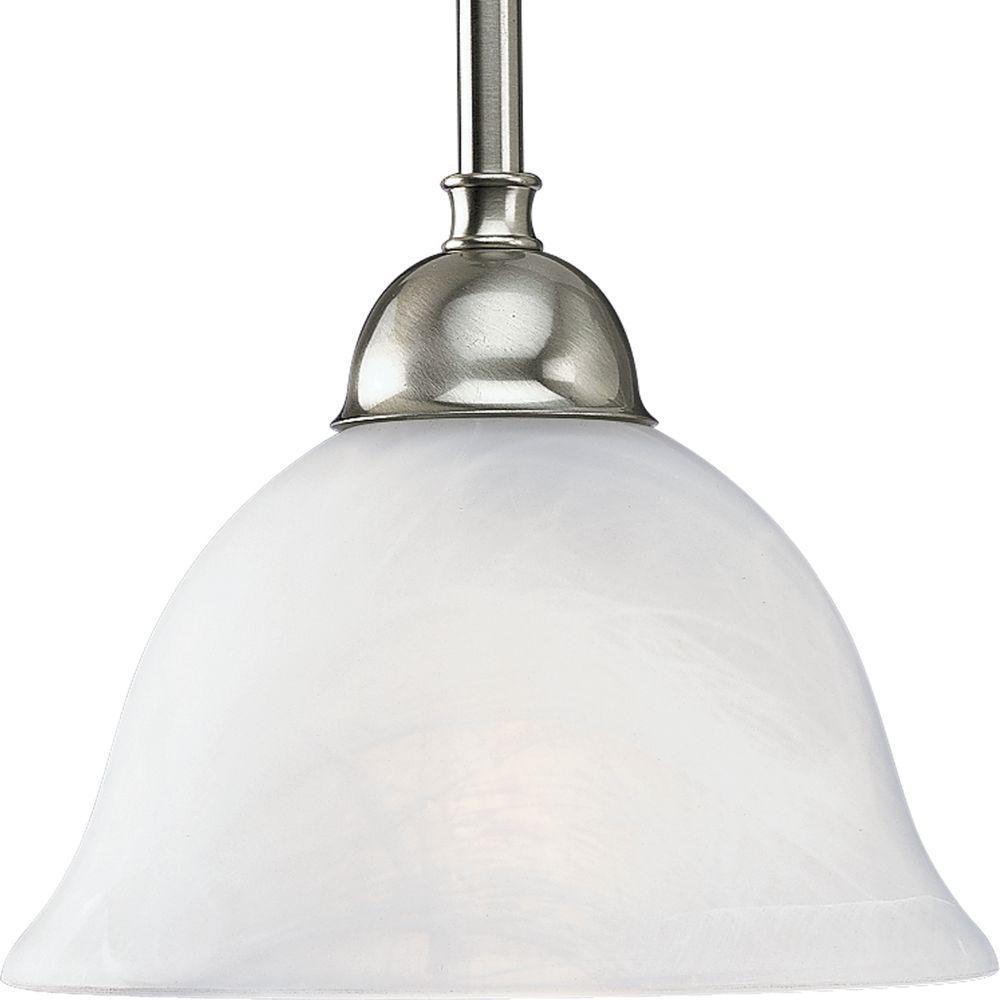 Good Progress Lighting Avalon Collection 1 Light Brushed Nickel Mini Pendant