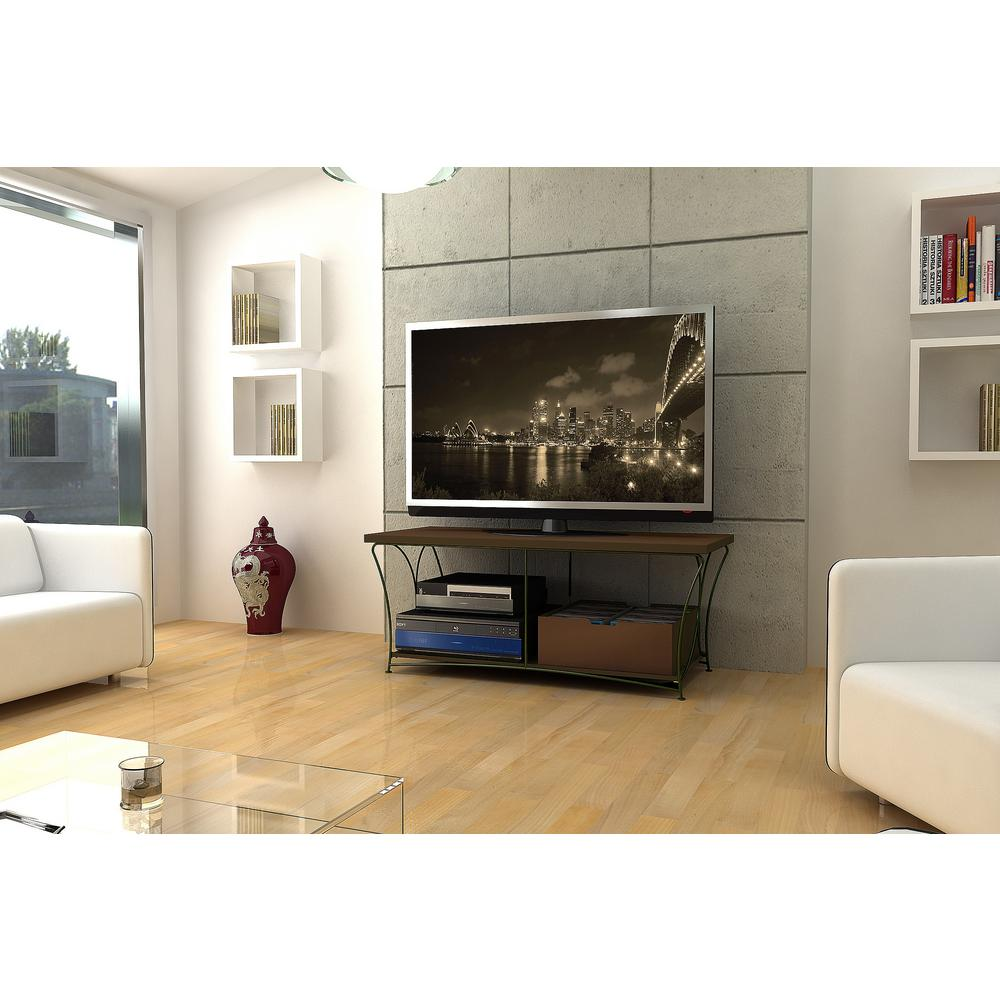 Atlantic Nuvo Mocha Shelved Entertainment Center