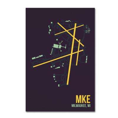 """30 in. x 47 in. """"MKE Airport Layout"""" by 08 Left Canvas Wall Art"""