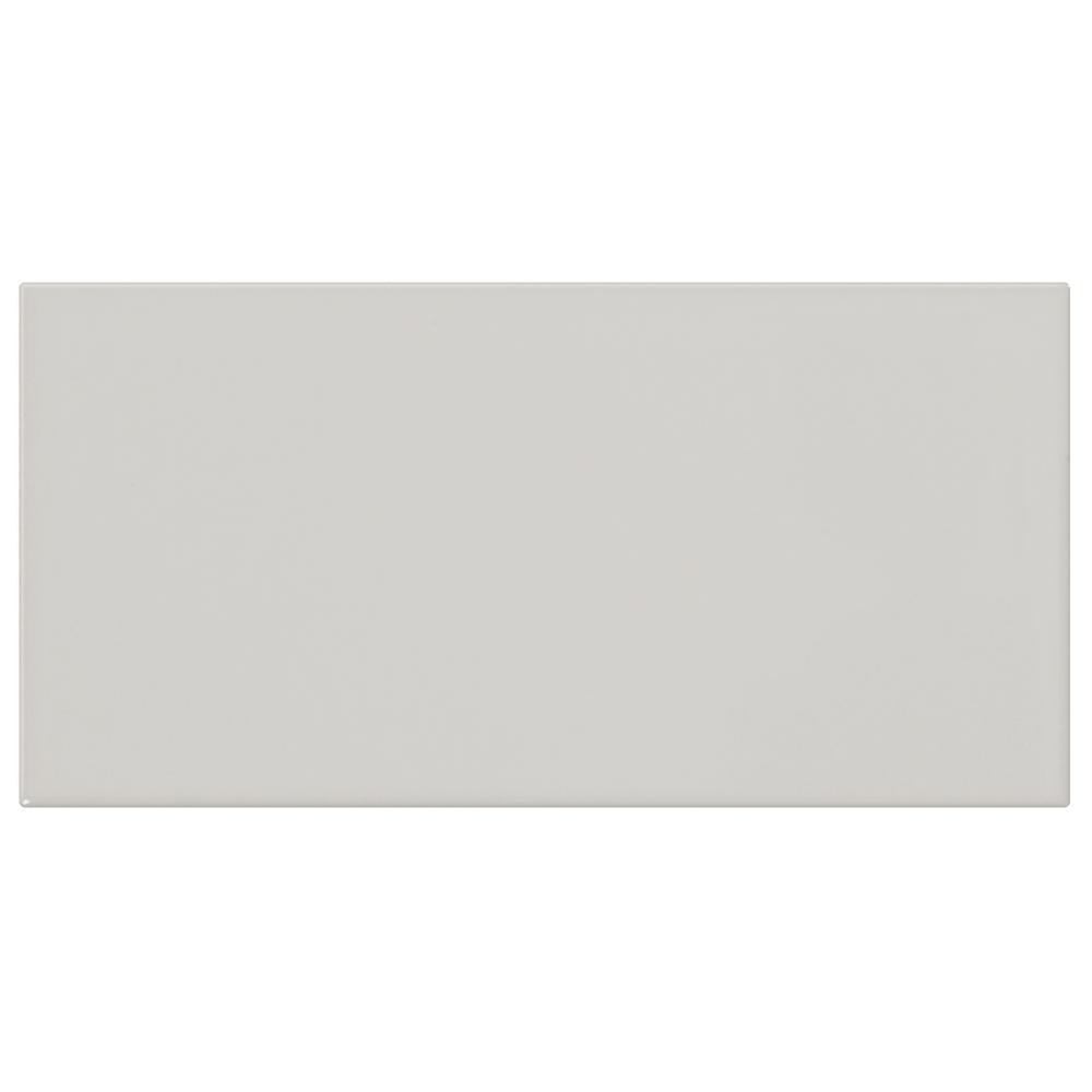 Finesse Cool Gray 3 in. x 6 in. Ceramic Wall Tile