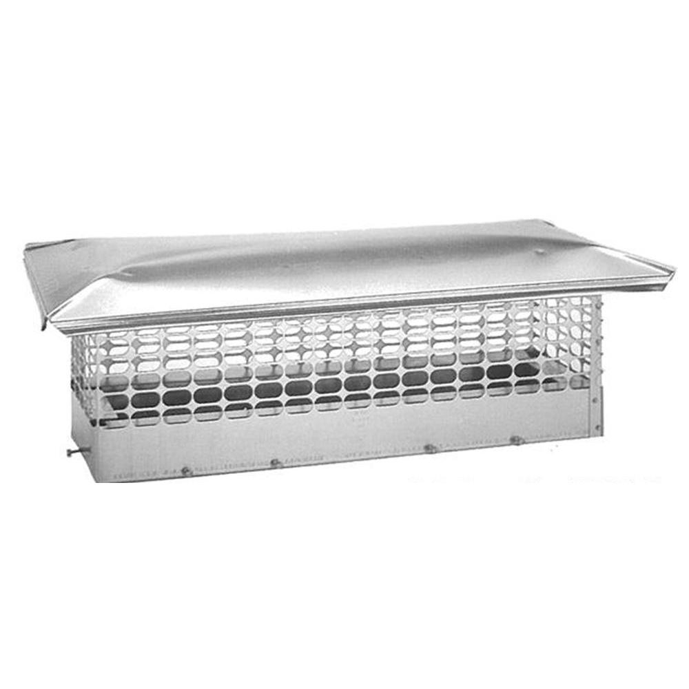 The Forever Cap 8 in. x 28 in. Adjustable Stainless Steel Chimney Cap
