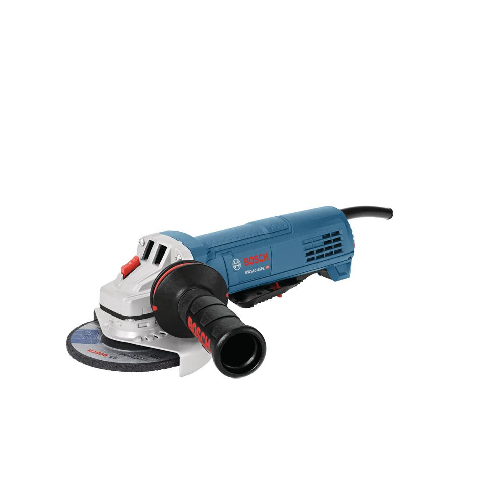 Bosch 10 Amp Corded 4 1 2 In Angle Grinder With Paddle Switch Gws10 45pe The Home Depot