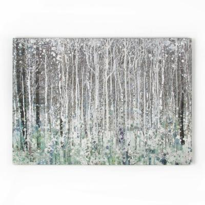 """39 in. x 28 in. """"Watercolor Woods"""" by Graham and Brown Printed Canvas Wall Art"""