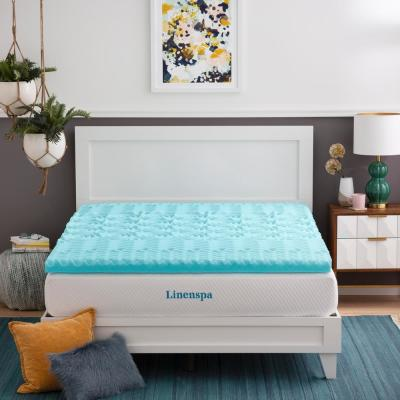 3 Inch Zoned Gel Memory Foam Queen Mattress Topper