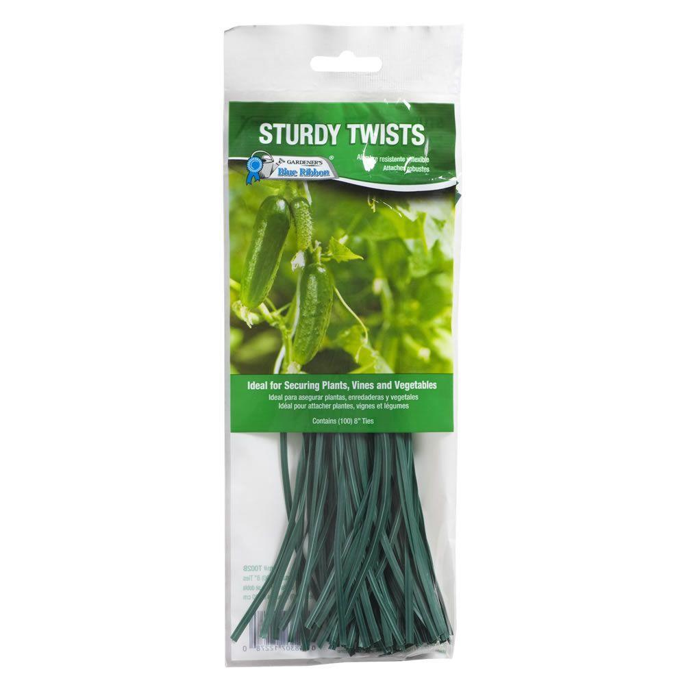 Woodstream Sturdy Pre-Cut Plastic Twists Ties (100-Count)