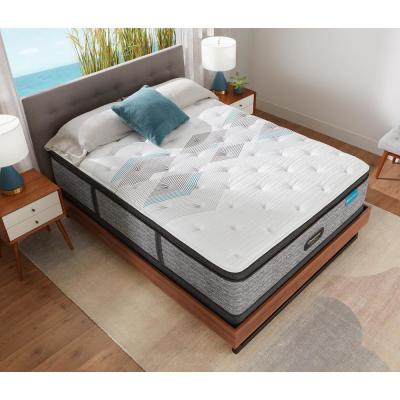 Harmony Lux HLC-1000 15.75 in. Medium Hybrid Pillow Top Queen Mattress with 9 in. Box Spring Set