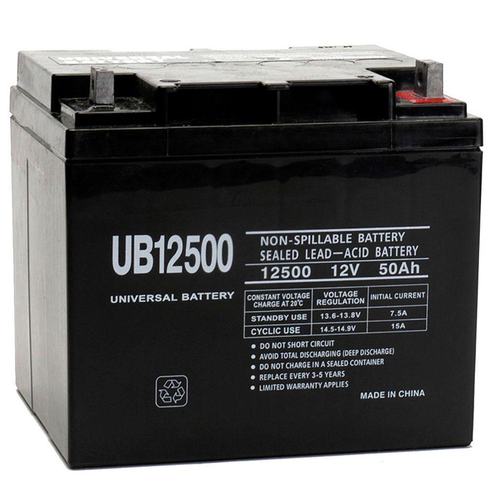 12-Volt 50 Ah L2 Terminal Sealed Lead Acid (SLA) AGM Rechargeable Battery