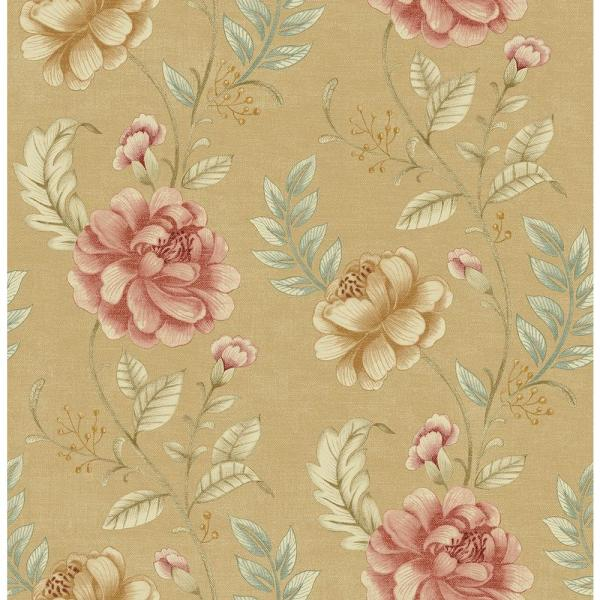 Beacon House Summer Palace Beige Floral Trail Wallpaper Sample 2669-21759SAM