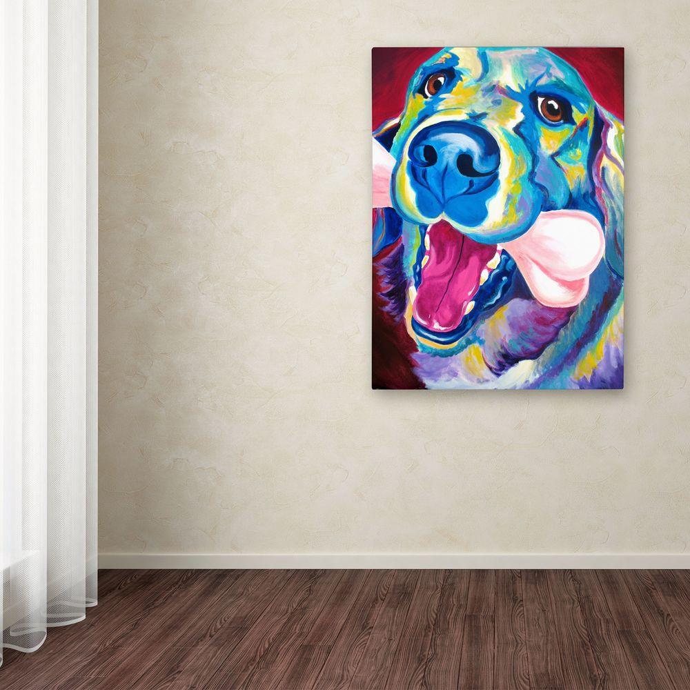 "32 in. x 24 in. ""My Favorite Bone Reboot"" by DawgArt Printed Canvas Wall Art"