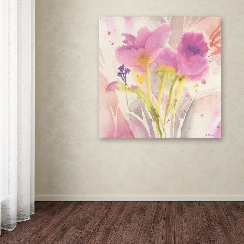 Trademark Fine Art 35 in. x 35 in. ''Magenta Duo'' by