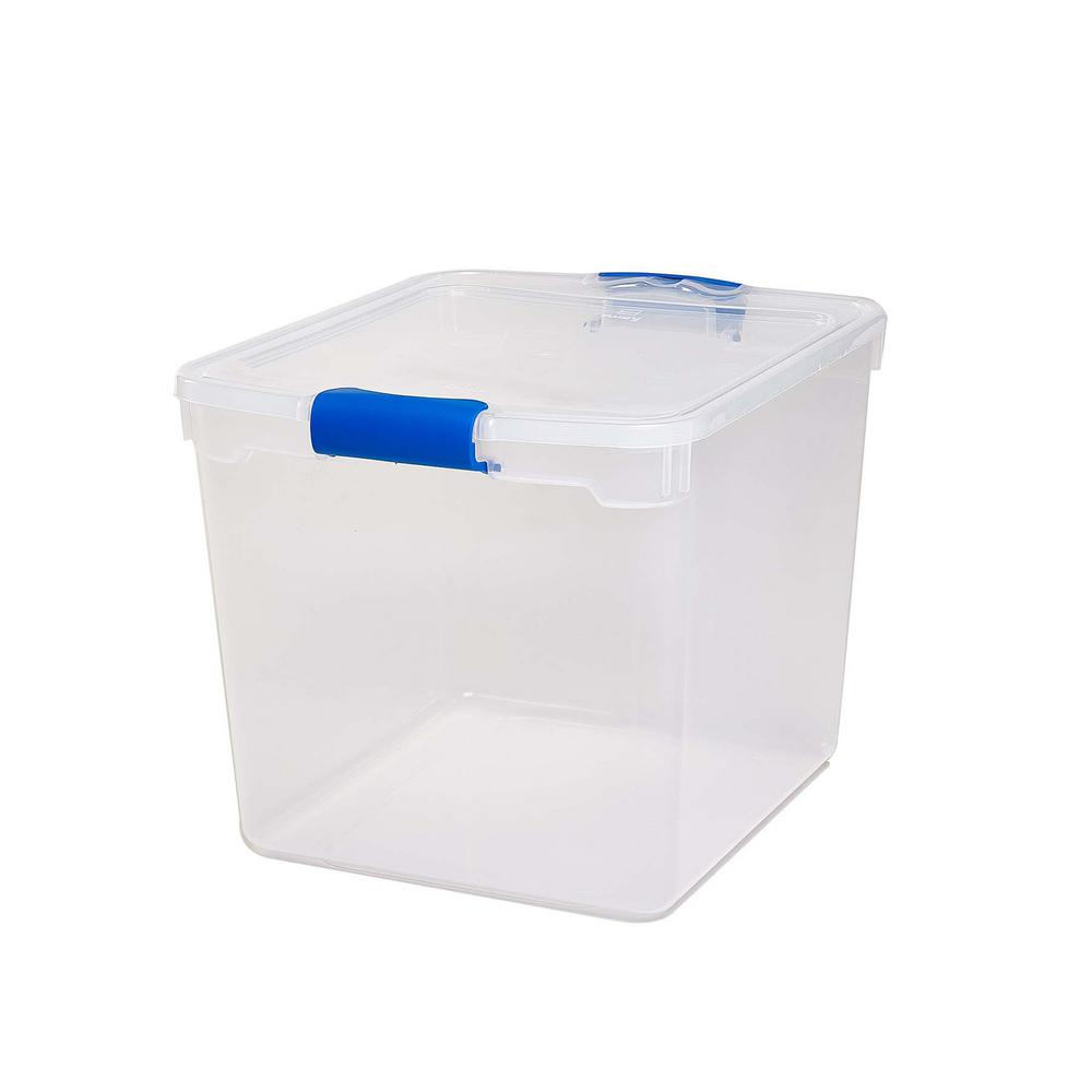 31 qt. Latching Clear Storage Box (4-Pack)