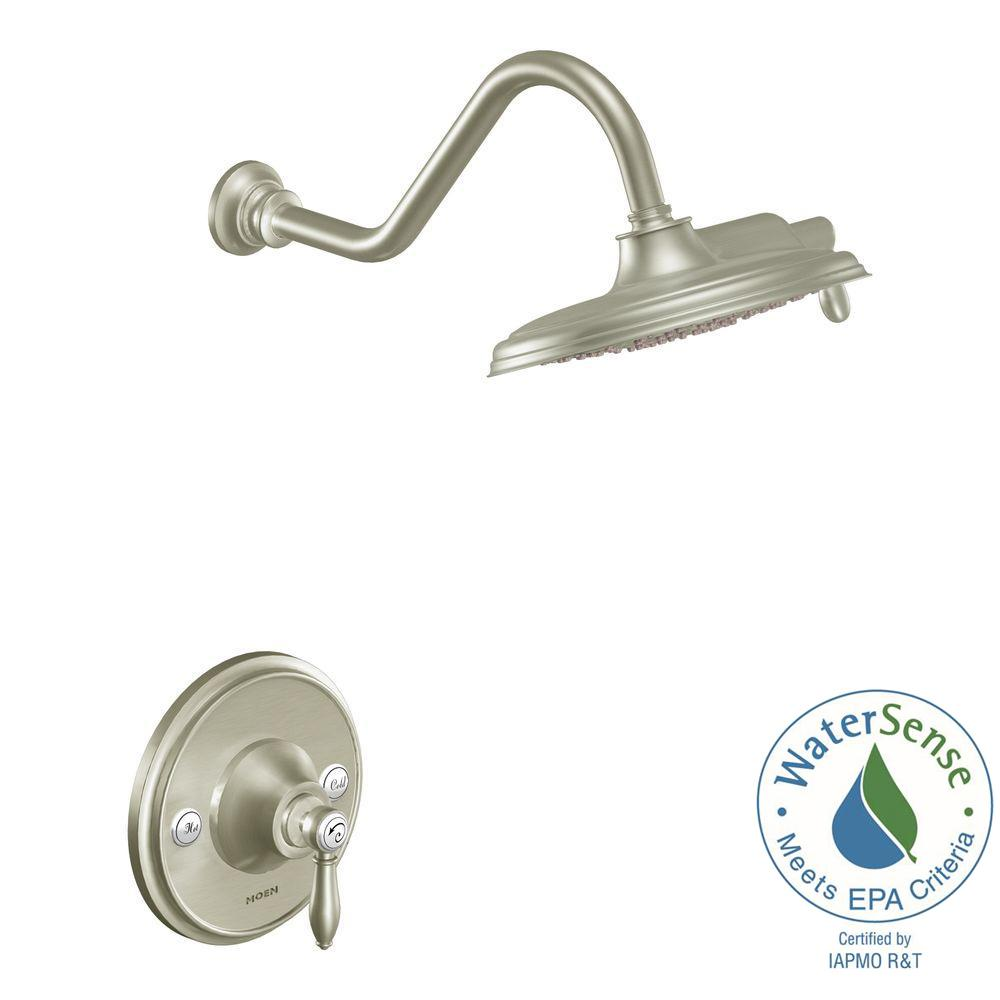 MOEN Weymouth Posi-Temp Eco-Performance Shower Trim Kit in Brushed Nickel (Valve Not Included)