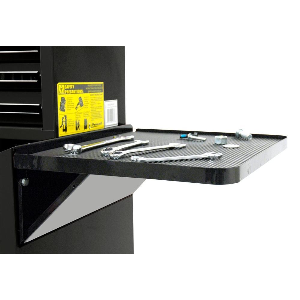 Professional 27 in. Side Folding Shelf in Black