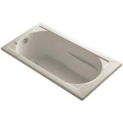 Devonshire 5 ft. Reversible Drain Soaking Tub in Sandbar with Bask Heated Surface