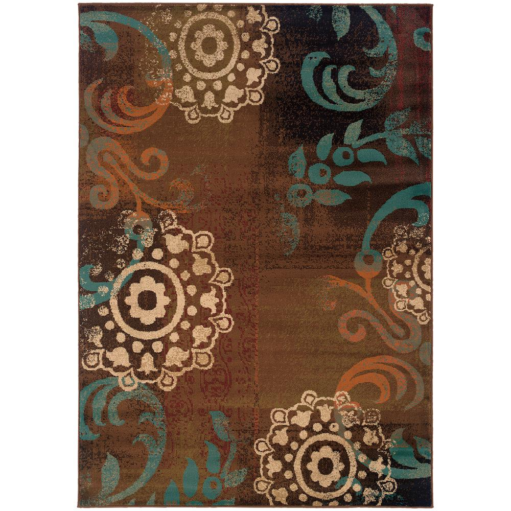 Market Brown 10 ft. x 13 ft. Area Rug